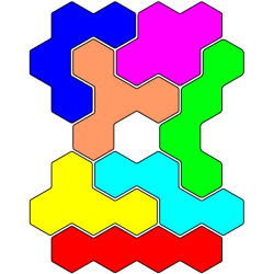 Tetrahex-Figur 33 Lösung