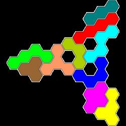 Tetrahex-Figur 34 Lösung
