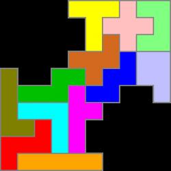 Pentominofigur 79 Doppelpfeil