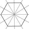 Hexagon mit 6 Symmetrieachsen