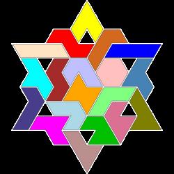 Hexiamond-Figur 59 Lösung