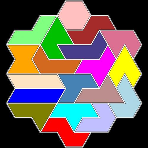 Hexiamond-Figur 57 Lösung
