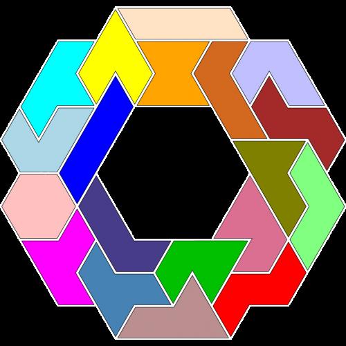 Hexiamond-Figur 58 Lösung
