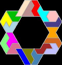 Hexiamond-Figur 60 Lösung