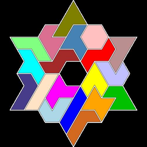 Hexiamond-Figur 61 Lösung