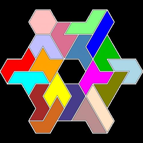 Hexiamond-Figur 62 Lösung