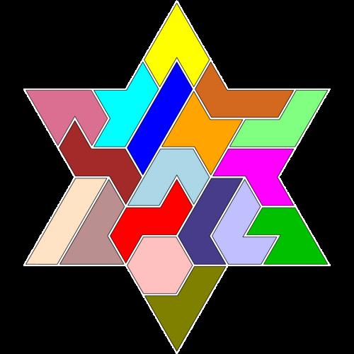 Hexiamond-Figur 63 Lösung
