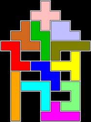 Pentomino-2D-Figur 108 Haus Lösung