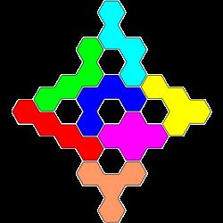 Tetrahex-Figur 38 Lösung