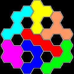 Tetrahex-Figur 39 Lösung