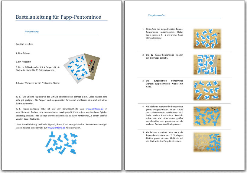 Download Bastel Vorlagen Pentoma