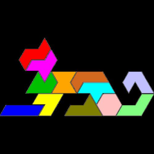 Hexiamond-Figur 64 Katze
